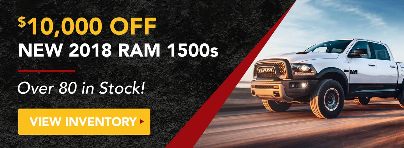 $10,000 off New 2018 Ram 1500s