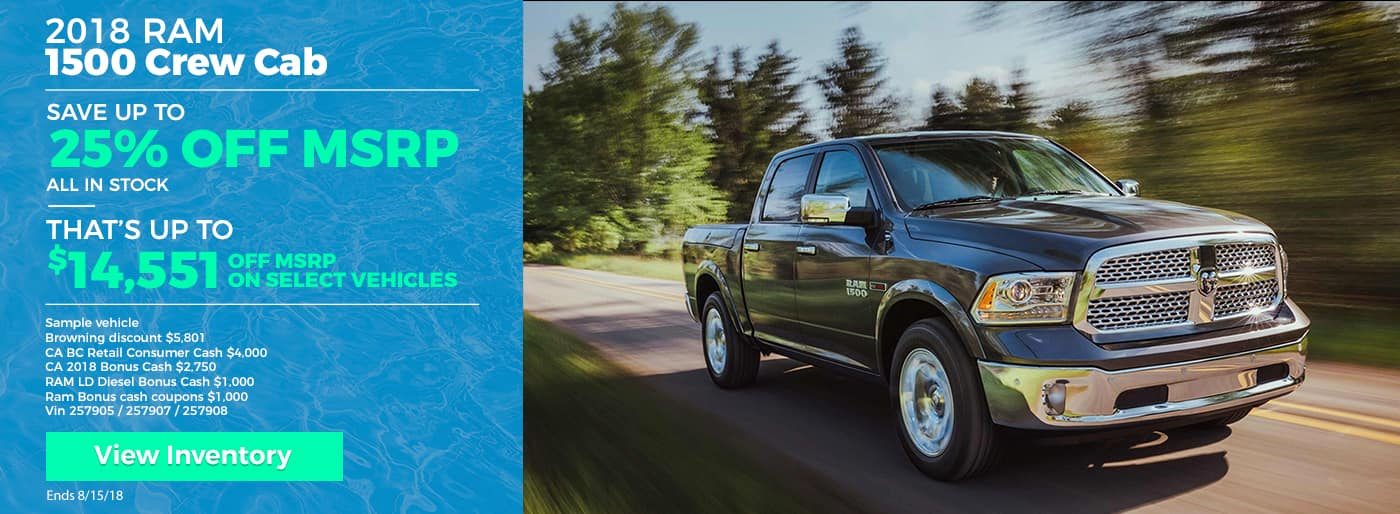 Save up to 25% on all in stock RAM 1500s