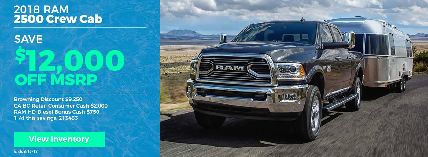 Save $12,000 off all RAM 2500s