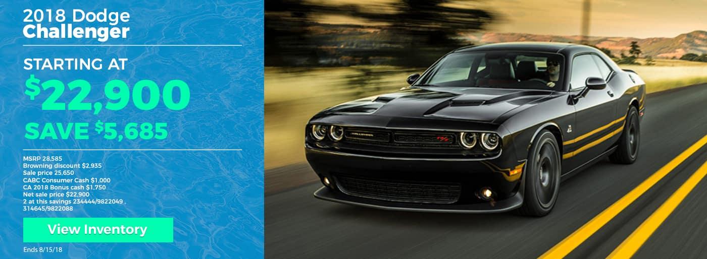 Save $5685 off 2018 Dodge Challenger