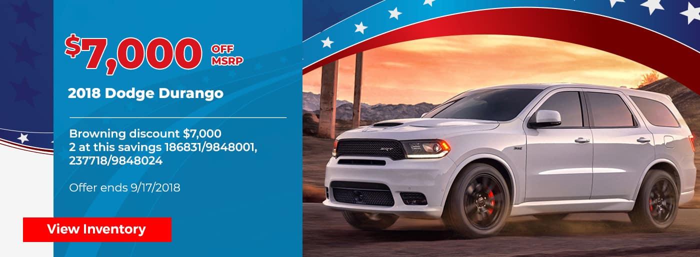 $7000 off 2018 Dodge Durango