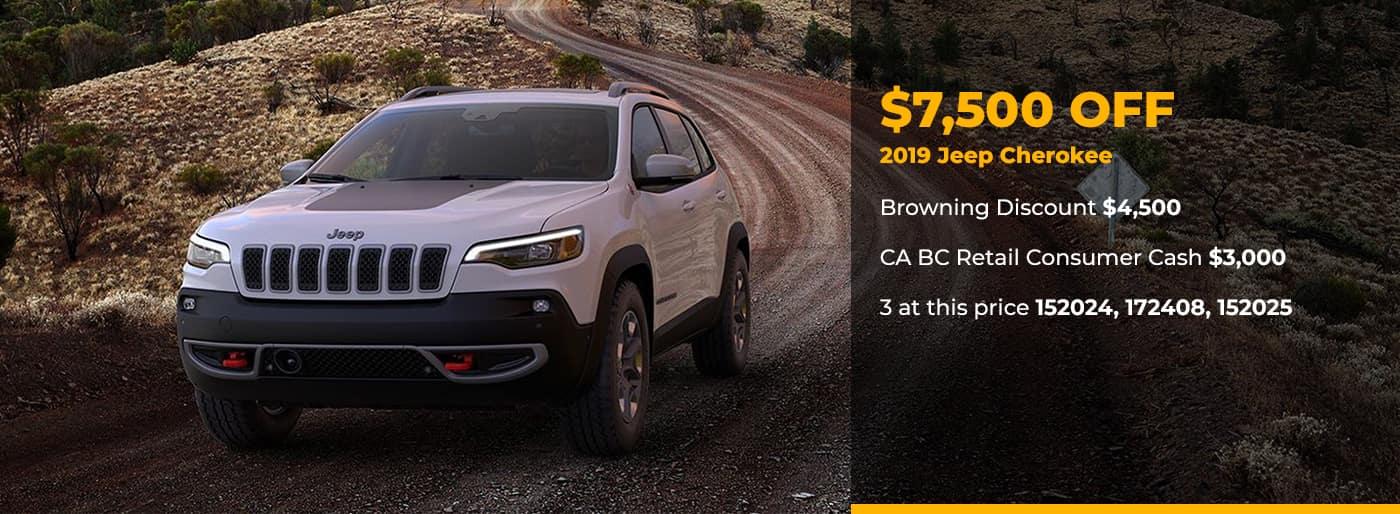 $7500 Off 2019 Jeep Cherokee