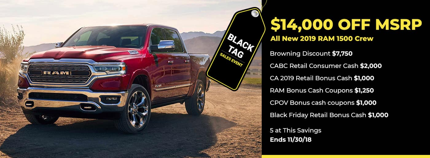 $14,000 off 2019 RAM 1500