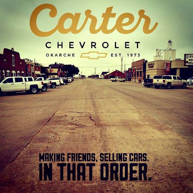 Carter Chevrolet Wins Big With Online Reviews Okarche Ok