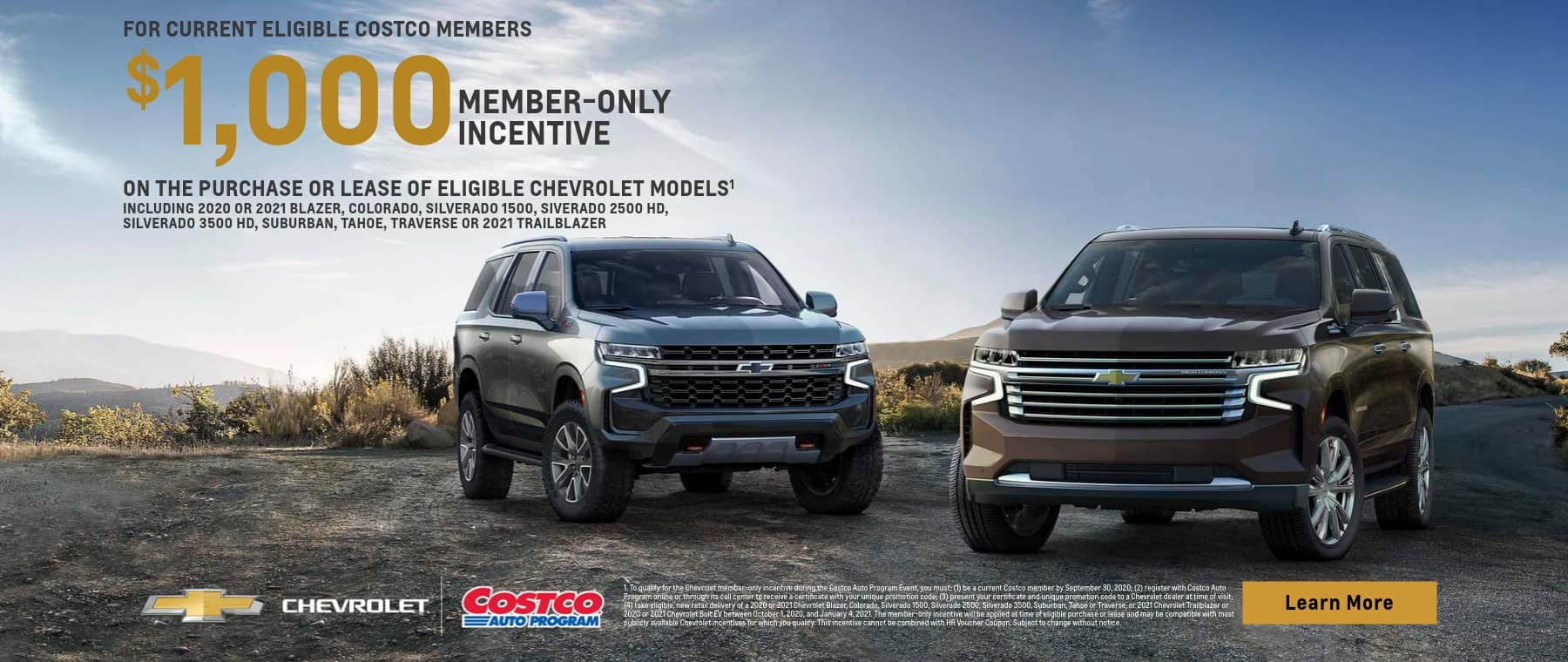 New Chevy Tahoe & Suburban Costco Rebate In Oklahoma