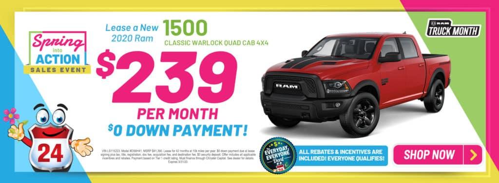 New 2020 Ram 1500 CLASSIC WARLOCK QUAD CAB 4X4