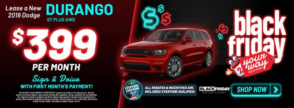New 2019 Dodge Durango GT Plus AWD