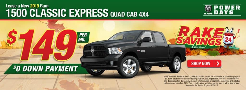 NEW 2019 RAM 1500 CLASSIC EXPRESS QUAD CAB 4X4 6'4