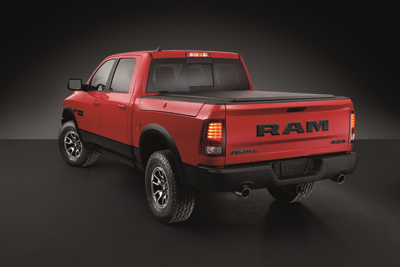 Ram 1500 Rebel in Flame Red and Brilliant Black Crystal