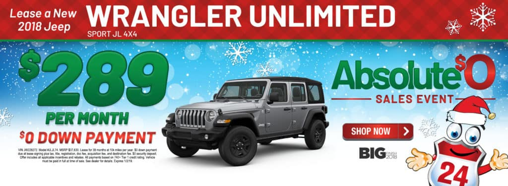 New 2018 Jeep Wrangler Unlimited Sport JL 4x4