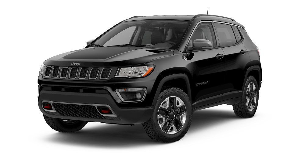 2019 Jeep Compass Diamond Black Crystal Pearl Coat