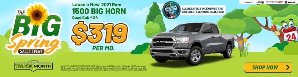 NEW 2021 RAM 1500 BIG HORN QUAD CAB 4X4