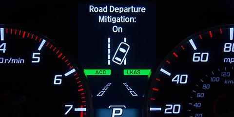 2017 Acura RLX Road Departure Mitigation System