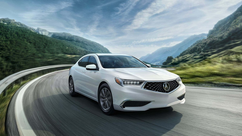 2018 Acura TLX Exterior Passenger Side White