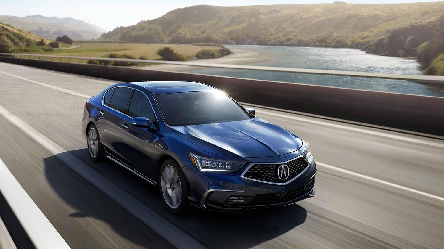 2018 Acura RLX Exterior Front Angle Passenger Side