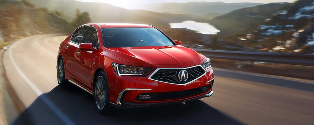 2018 Acura RLX Sport Hybrid in Brilliant Red Metallic