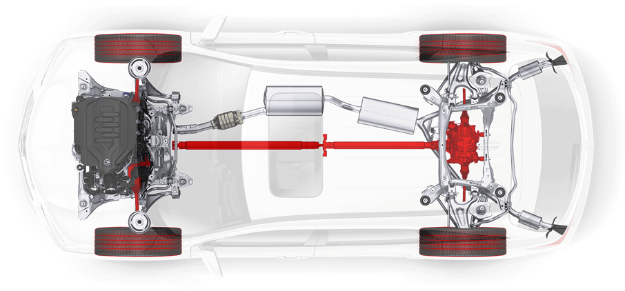 2018 Acura MDX Underneath