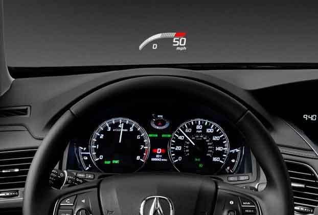 2018 Acura RLX Head Up Display