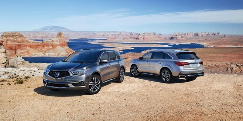 2018 Acura MDX models parked