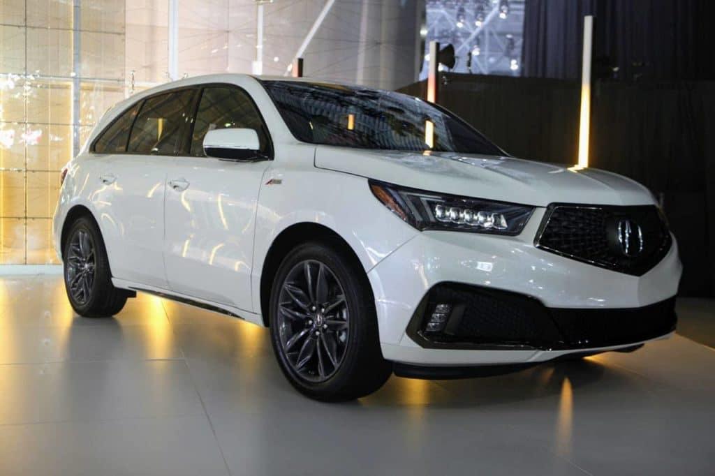 2019 Acura MDX A-Spec NYIAS HPJ Front quarter shot