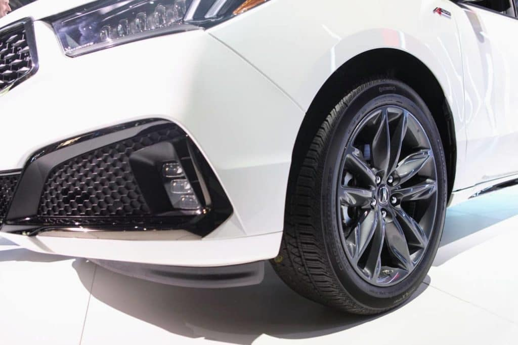 2019 Acura MDX A-Spec NYIAS HPJ Front Driver side wheel detail