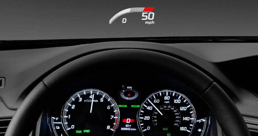 heads-up display in 2019 Acura RLX
