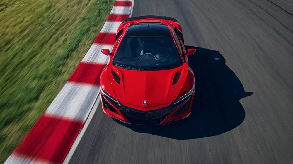 2019 Acura NSX On Racetrack