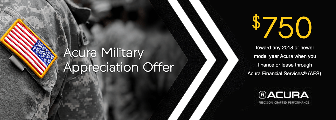 Acura Military Appreciation Offer from Your Chicagoland Acura Dealers
