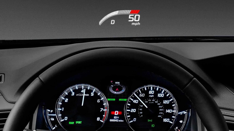 2019 Acura RLX Sport Hybrid SH-AWD Interior Head-Up Display