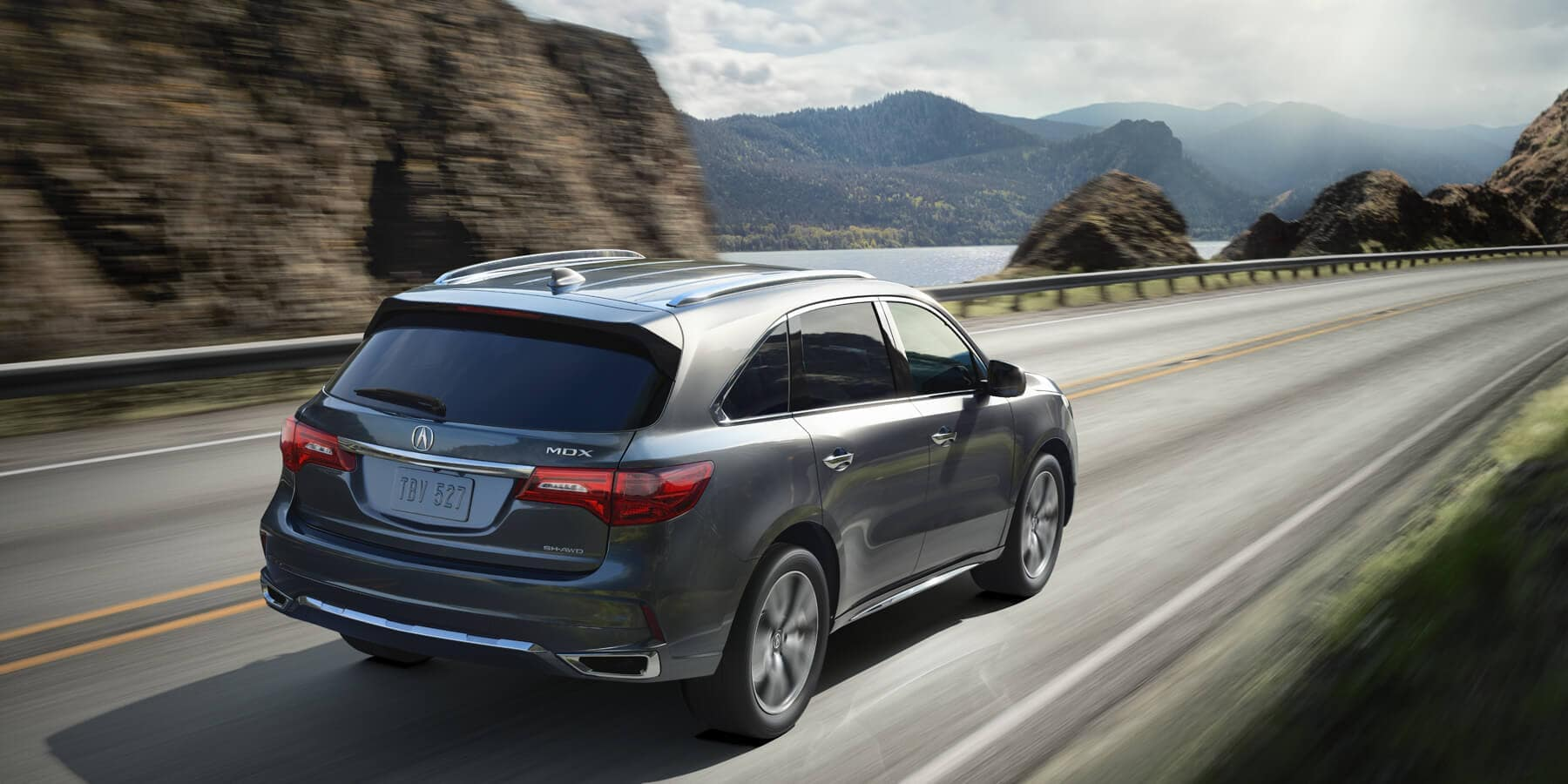 2020 Acura MDX Modern Steel Metallic Rear Angle