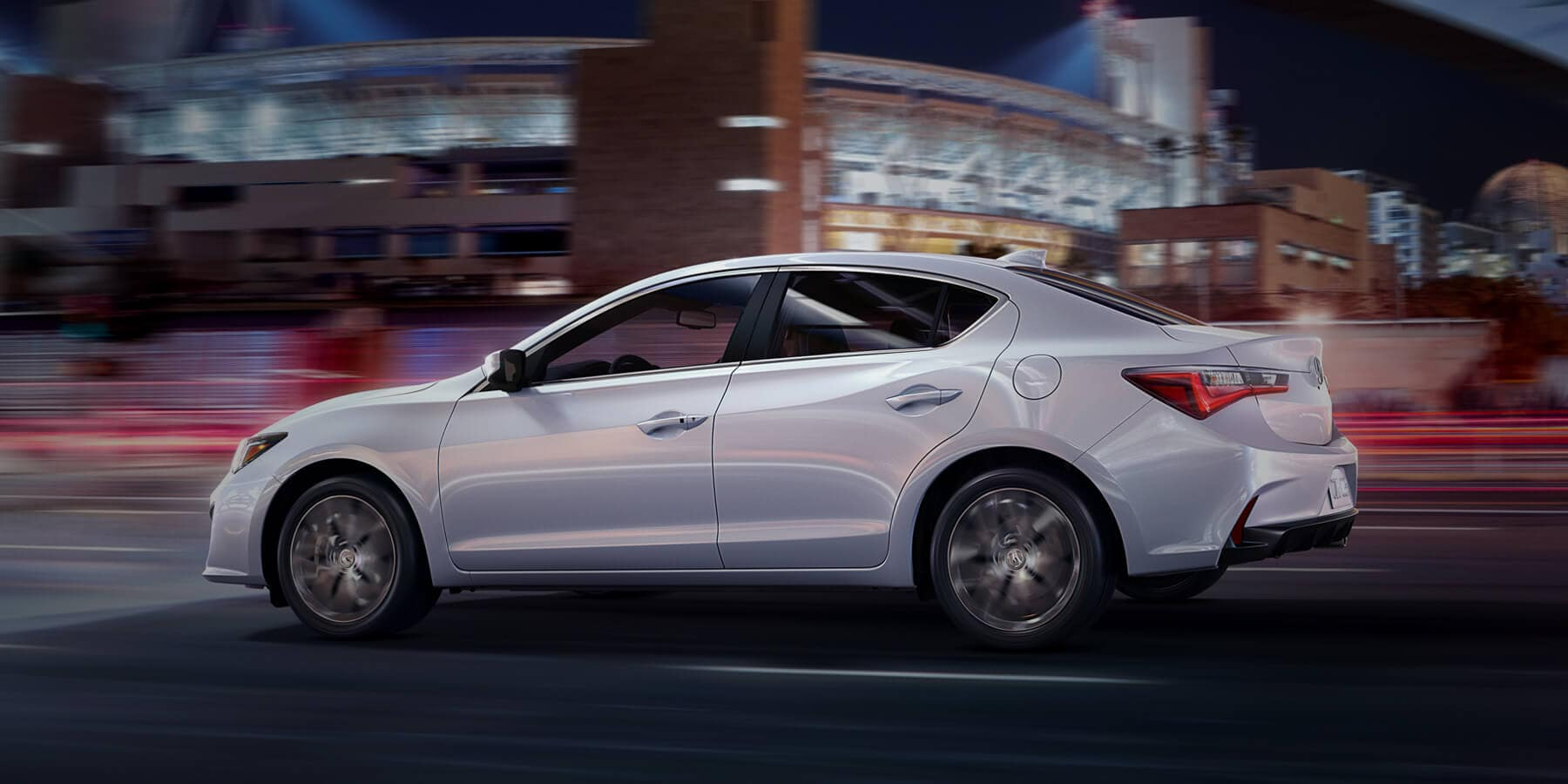 2019 Acura ILX Platinum White Pearl Side Profile HP Slide