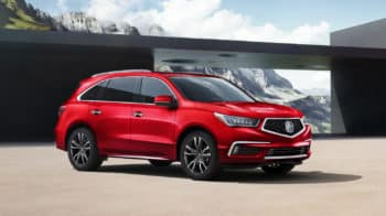 2020 Acura MDX SH-AWD Exterior Front Angle Passenger Side Mountain Location