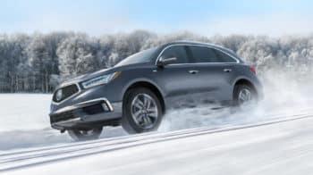 2020 Acura MDX SH-AWD Exterior Side Angle Snow Location