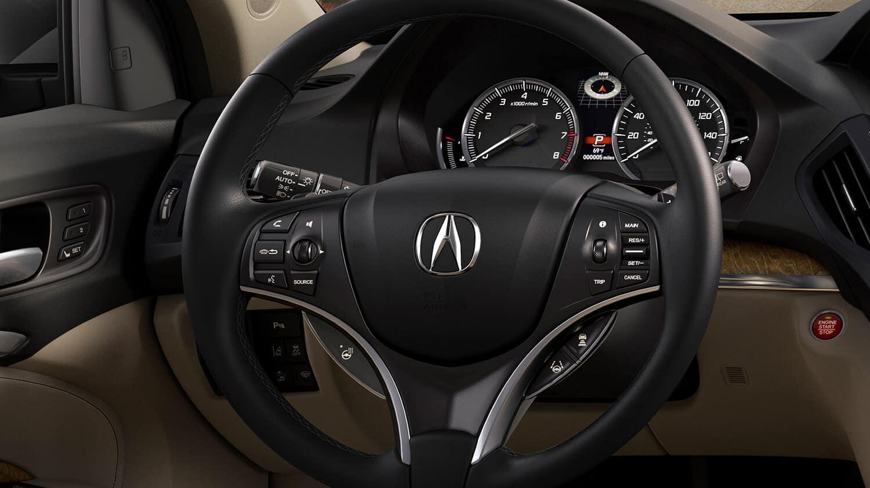 2020 Acura MDX SH-AWD Interior Steering Wheel Closeup
