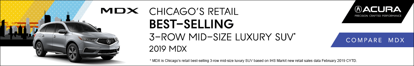 Acura MDX Chicago's Retail Best-Selling 3-Row Midsize Luxury SUV