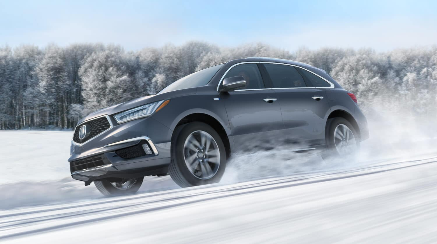 2020 Acura MDX AWD Exterior Side Angle Snow Location