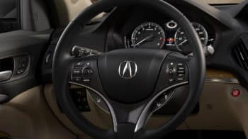 2020 Acura MDX AWD Interior Steering Wheel Closeup