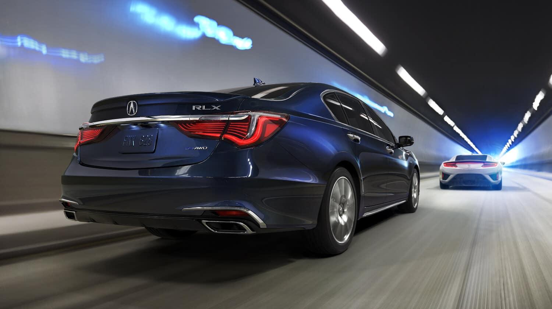 2020 Acura RLX Sport Hybrid SH-AWD Exterior Rear Angle Passenger Side