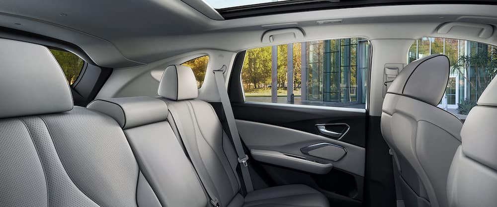 White seats in passenger area of 2021 Acura RDX