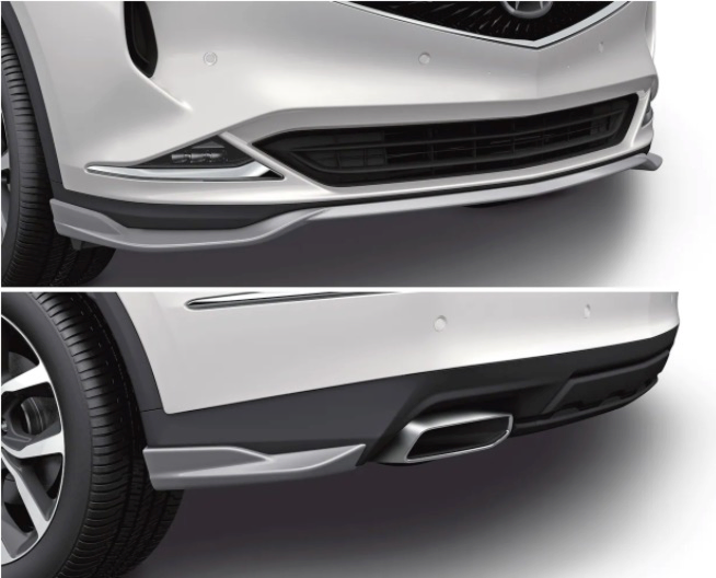 Acura Genuine Accessories MDX Lower Trims, Front and Rear