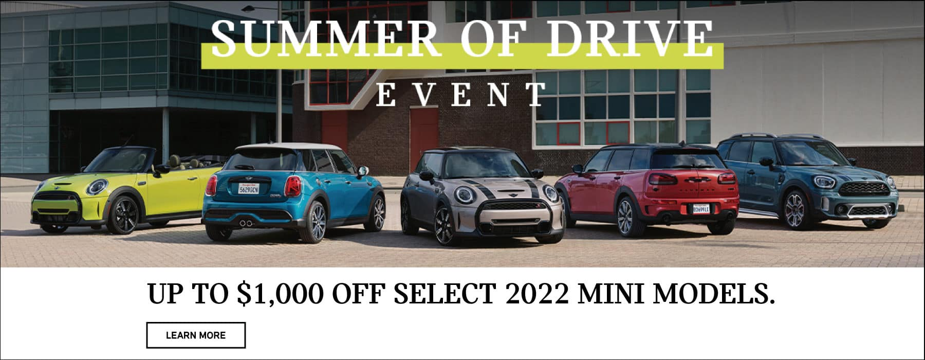 Up to $1,000 off select 2022 models.