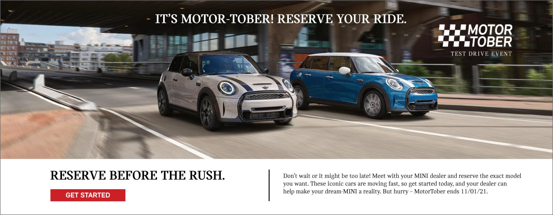 Motor-Tober is here! Reserve your MINI noe before the rush!