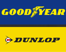 Good Year and Dunlop Tires