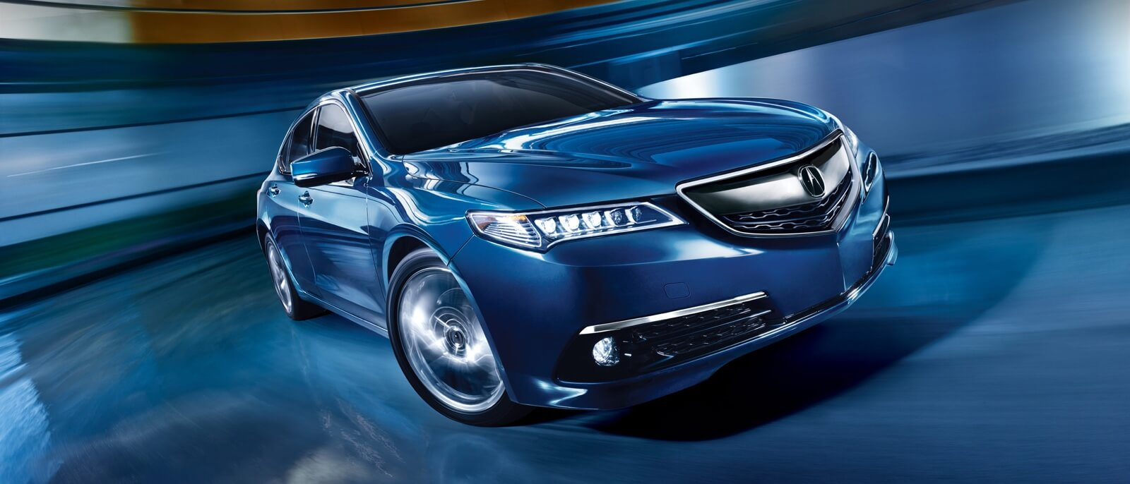 2016 Acura TLX blue exterior