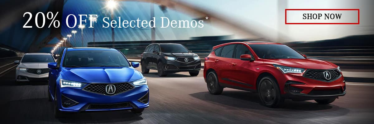 Acura Executive Demos are Discounted up to 20%!