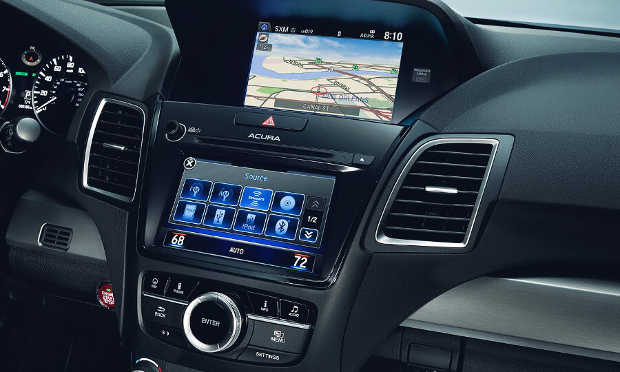 2017 Acura RDX navigation dashboard