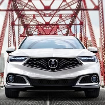 2018 Acura TLX front fascia