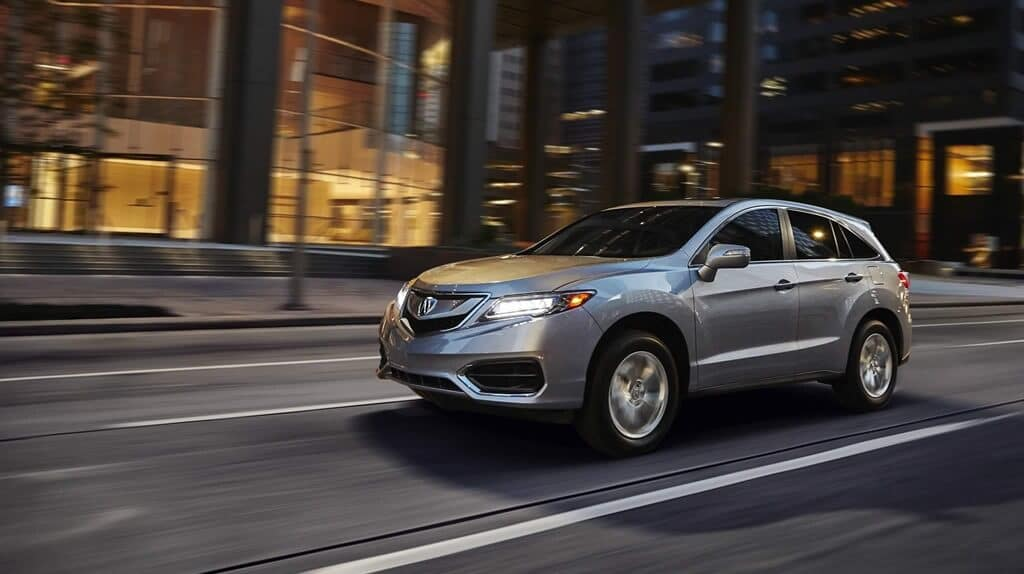 2018 Acura RDX on the road
