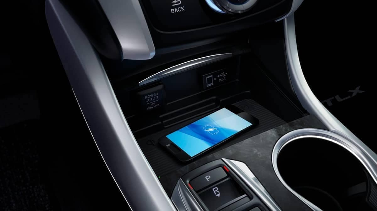 phone charging wirelessly in 2019 Acura TLX's center console