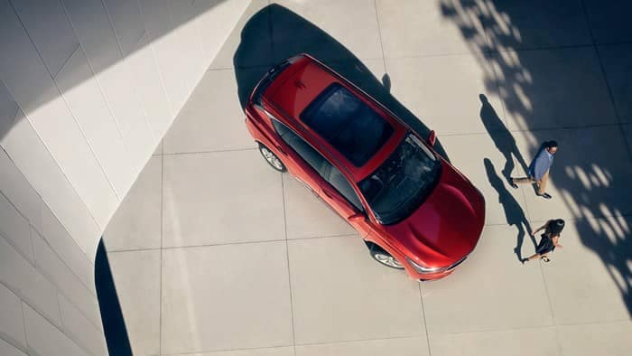 Birds-eye view of 2019 Acura RDX